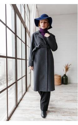 Сіре базове пальто 20-124__U 750-93-3