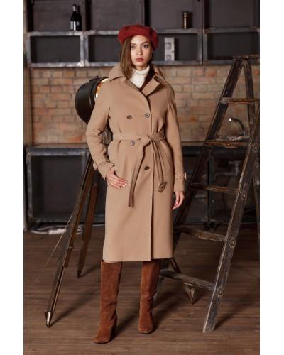 Бежеве демісезонне пальто 20-153-745-96