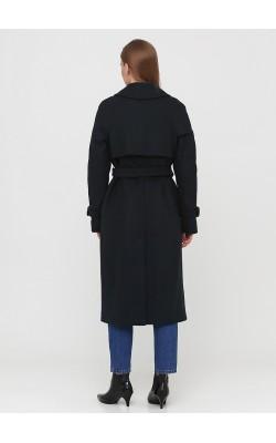 Утеплене пальто пильного темно-зеленого кольору