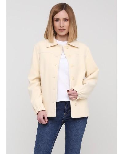 Молочна куртка-жакет на удзиках