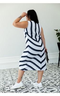 Сукня синьо-біла смужка 30-266-827