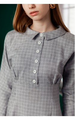 Сіре приталене плаття 30-312-952
