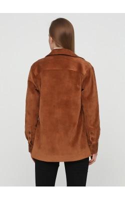Базовий коричневий вельветовий жакет