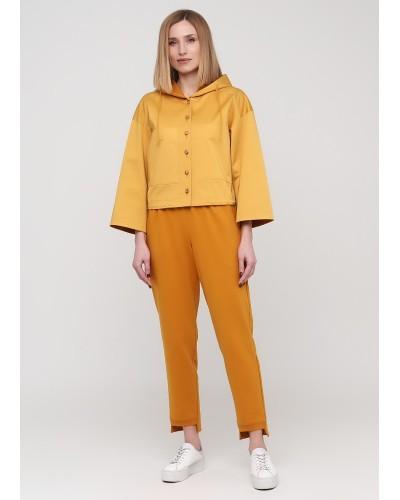 Жовті трикотажні штани