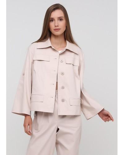 Елегантна куртка молочного кольору на удзиках
