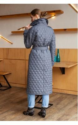 Стьобане пальто мокрий асфальт 77-1132/У-759-128-6