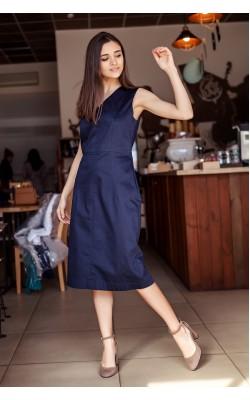 Темно-синее платье чехол 77-263