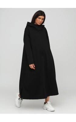 Екстравагантне чорне широке плаття з начосом
