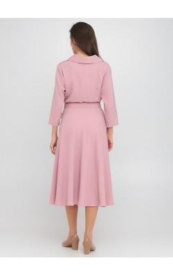 Ніжна рожева сукня-трапеція на удзиках