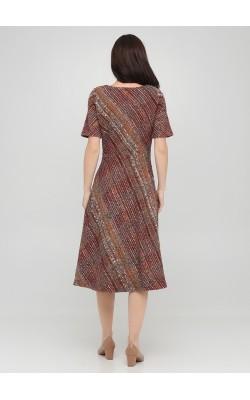 Екстравагантна сукня меланж з короткими рукавами
